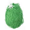 Seedbead Opaque Medium Green 10/0 Strung